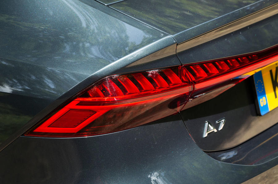 Audi A7 Sportback 2018 road test review rear lights