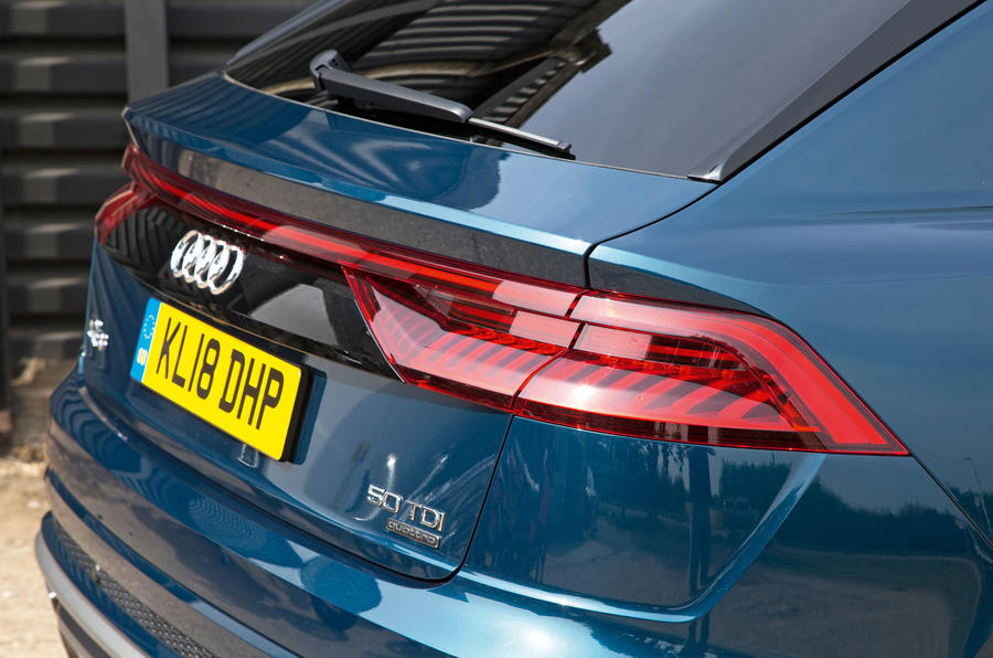 Audi Q8 50 TDI Quattro S Line 2018 road test review - rear lights