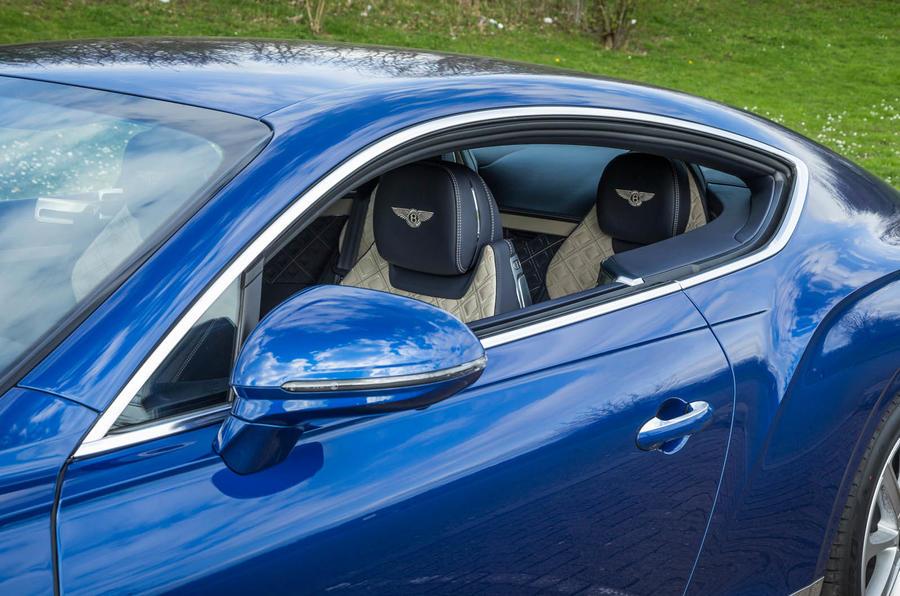 Bentley Continental GT 2018 Autocar road test review pillars