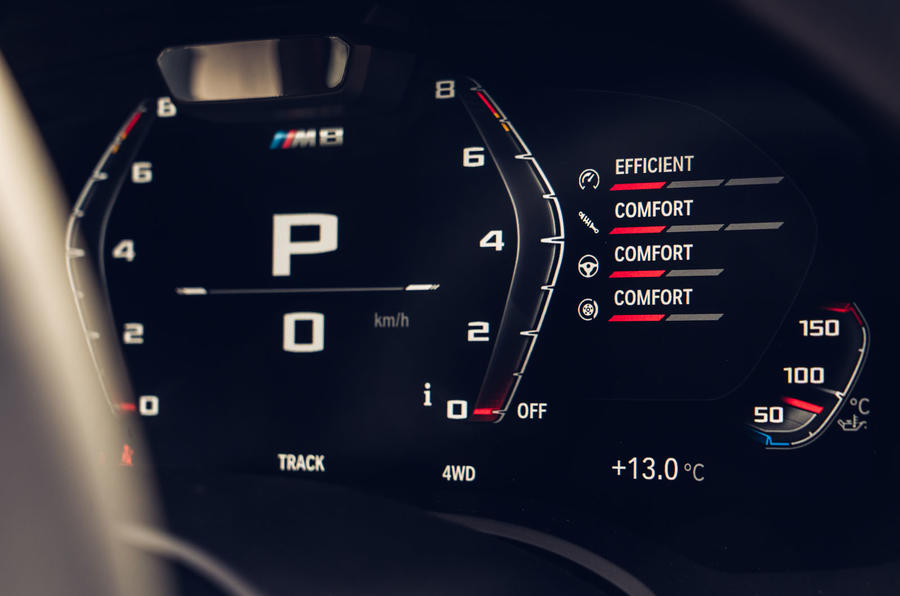 BMW M8 Competition coupe 2020 road test review - instruments