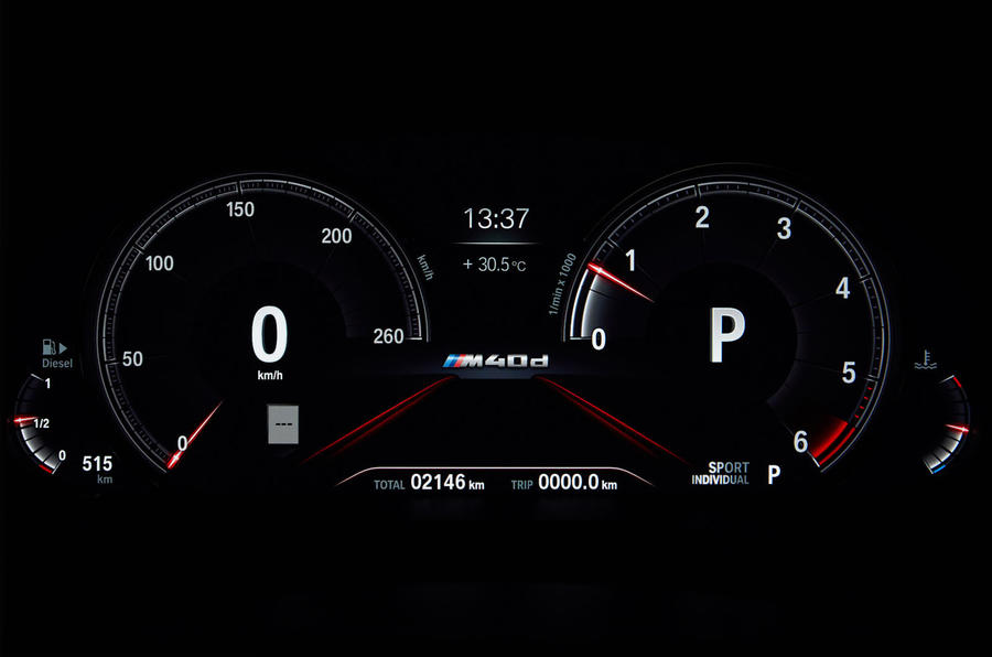 BMW X4 2018 road test review instrument cluster
