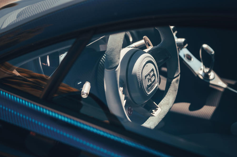Bugatti Divo 2020 road test review - steering wheel