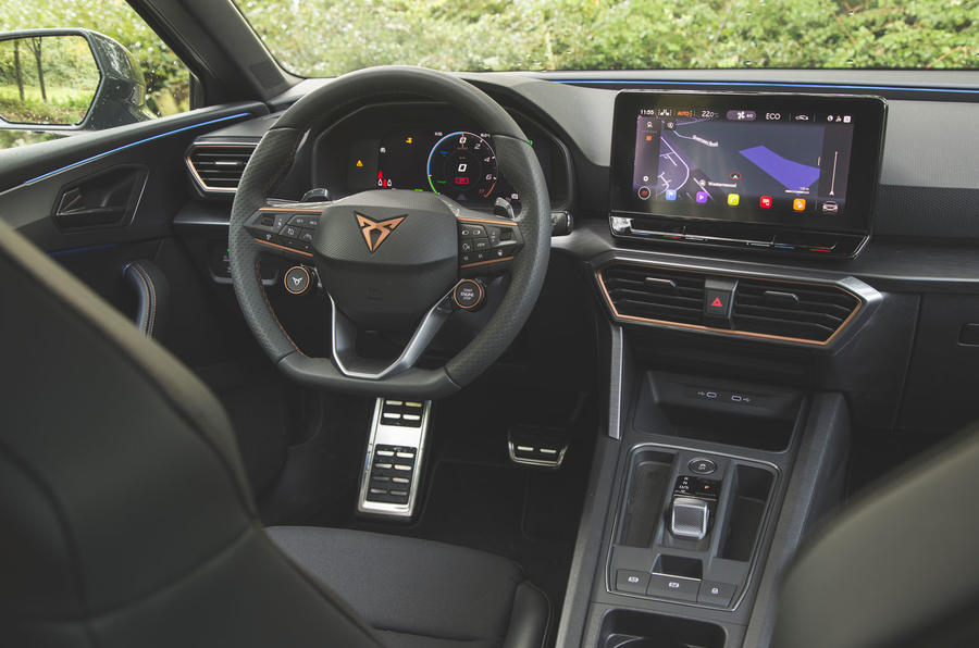 Cupra Leon 2020 road test review - dashboard