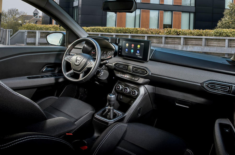 11 dacia sandero tce 90 2021 uk first drive review dashboard