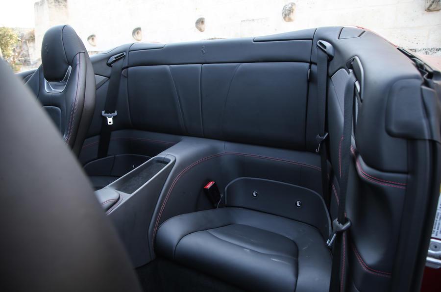 Ferrari Portofino review rear seats