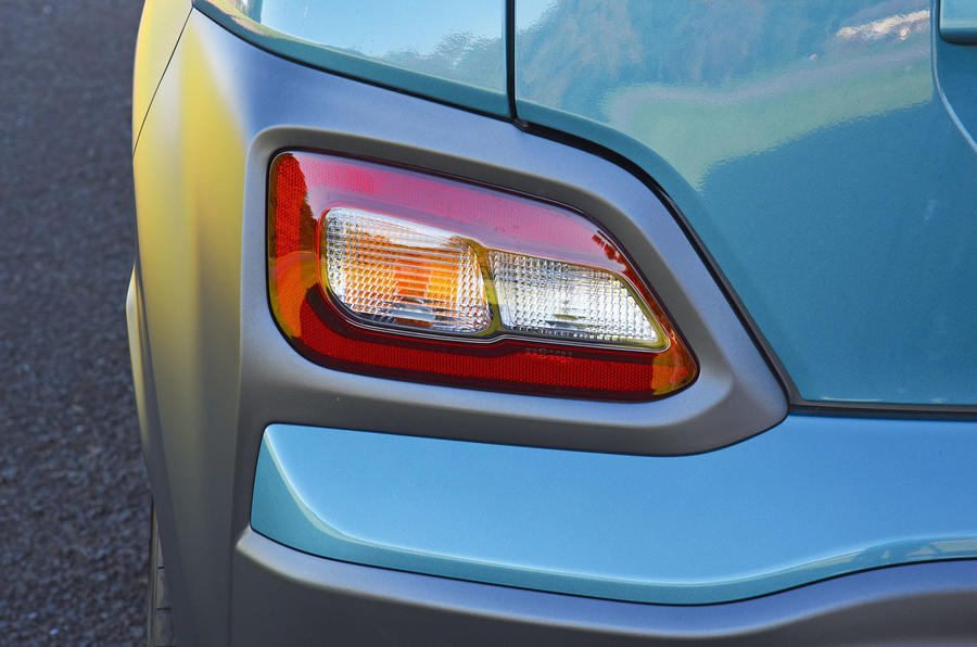 Hyundai Kona Electric 2018 road test review - rear foglights