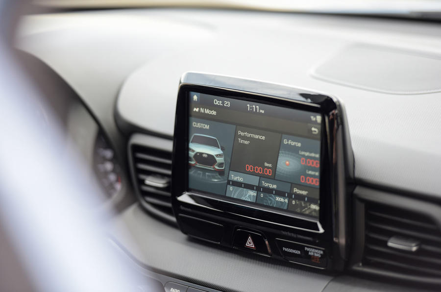 Hyundai Veloster N 2018 review - infotainment