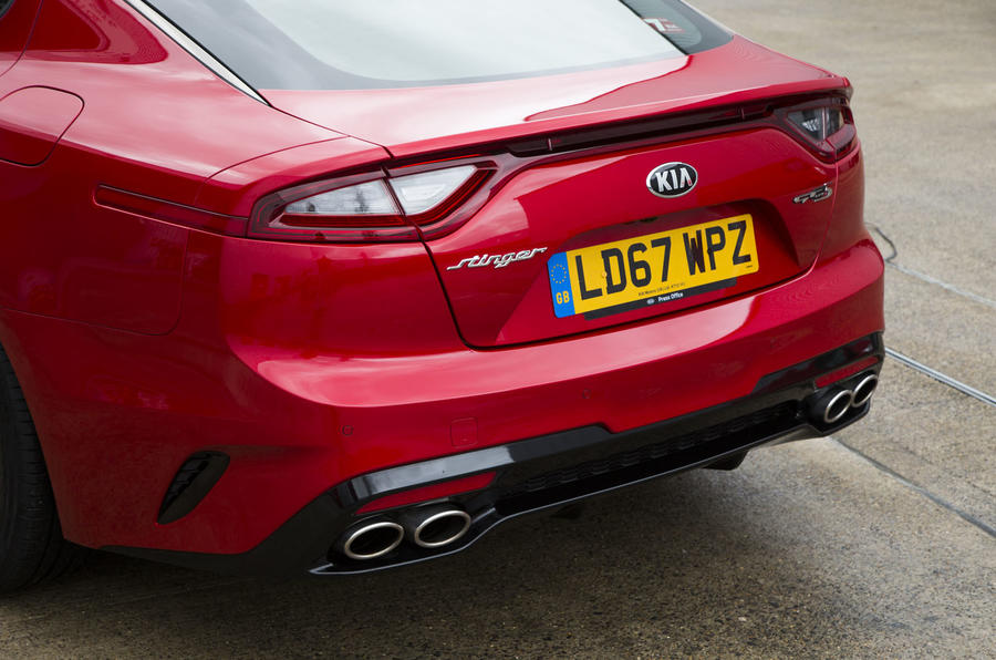 Kia Stinger GT line 2018 review rear end