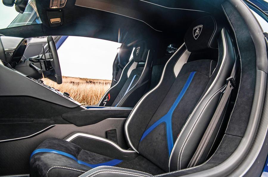 Lamborghini Aventador SVJ 2019 road test review - seats
