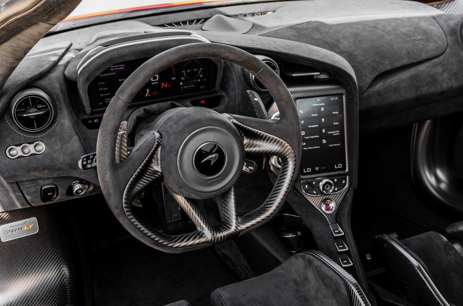 McLaren 765LT 2020 road test review - dashboard