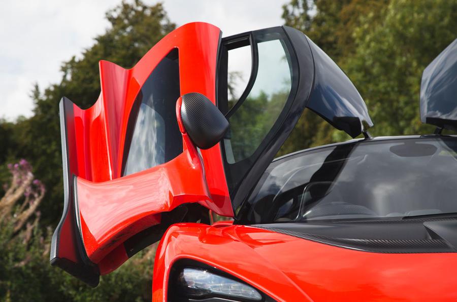 McLaren Senna 2018 road test review - doors open