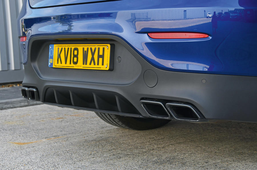 Mercedes-AMG GLC 63 S road test review exhausts