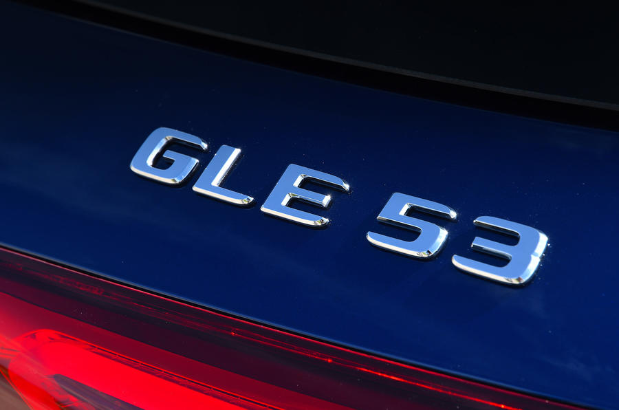 Mercedes-AMG GLE 53 2020 road test review - rear badge