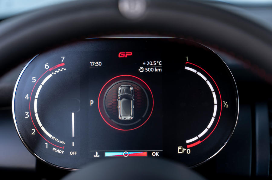 Mini JCW GP 2020 road test review - instruments