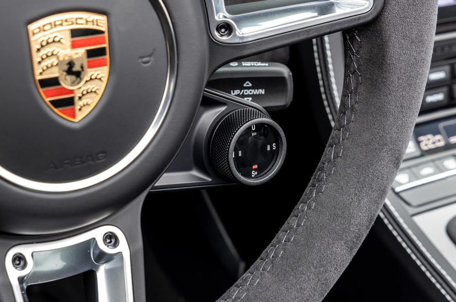 Porsche 718 Boxster GTS 4.0 2020 road test review - steering wheel