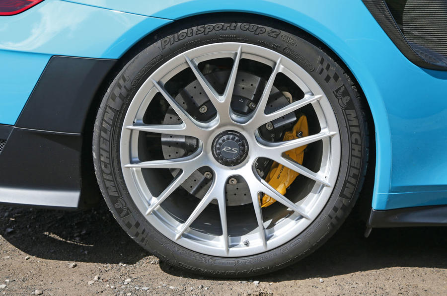 Porsche 911 GT2 RS 2018 road test review rear alloys