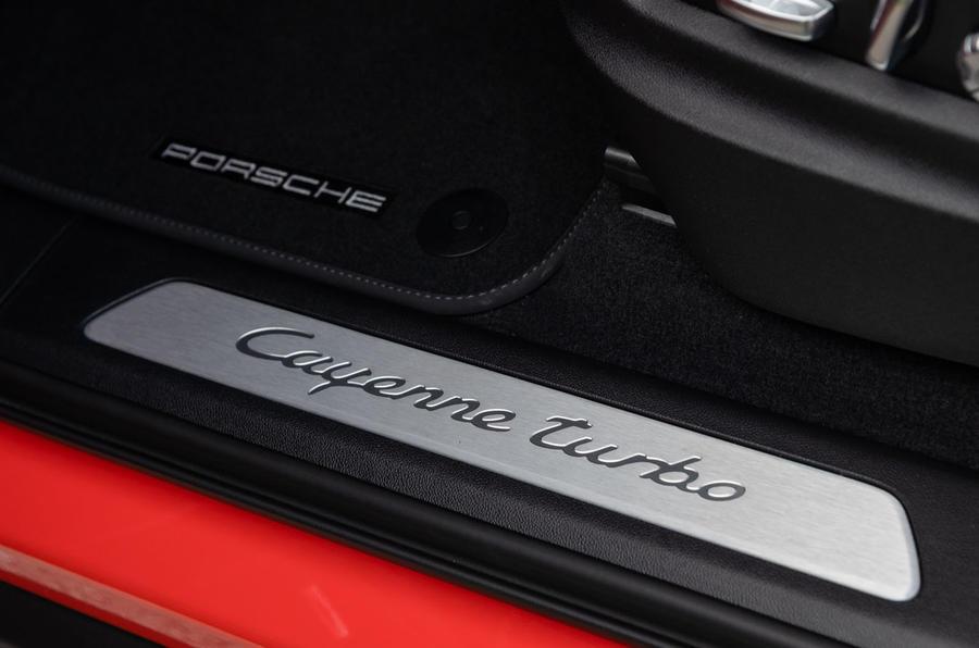 Porsche Cayenne Coupé 2019 review - scuff plates