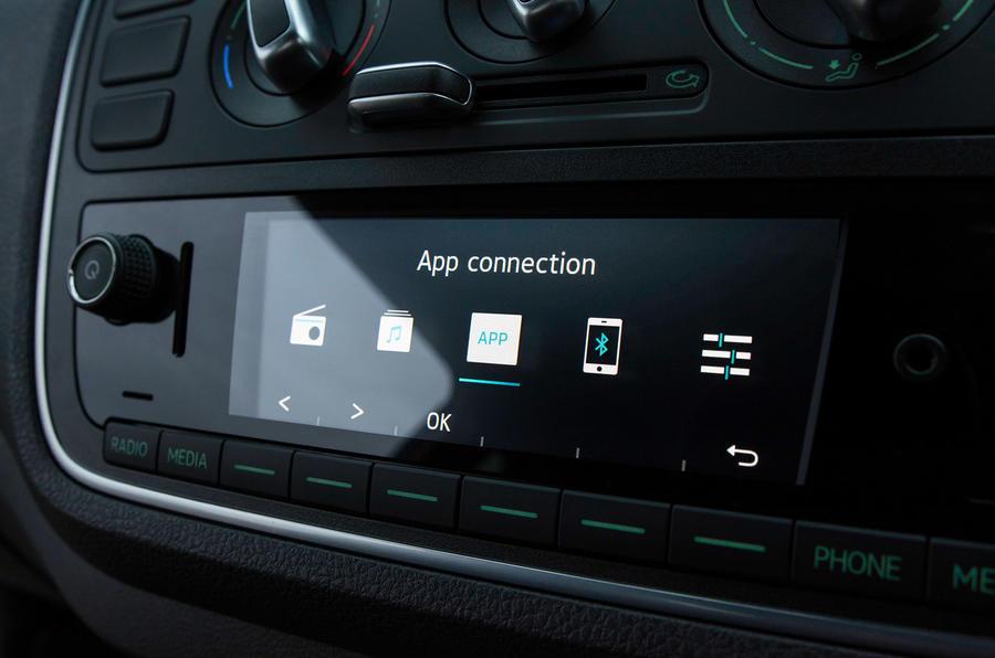 Skoda Citigo 2017 first drive review app interface