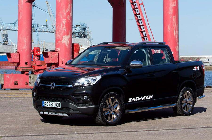 Ssangyong Musso Saracen 4x4 2018 road test review static front