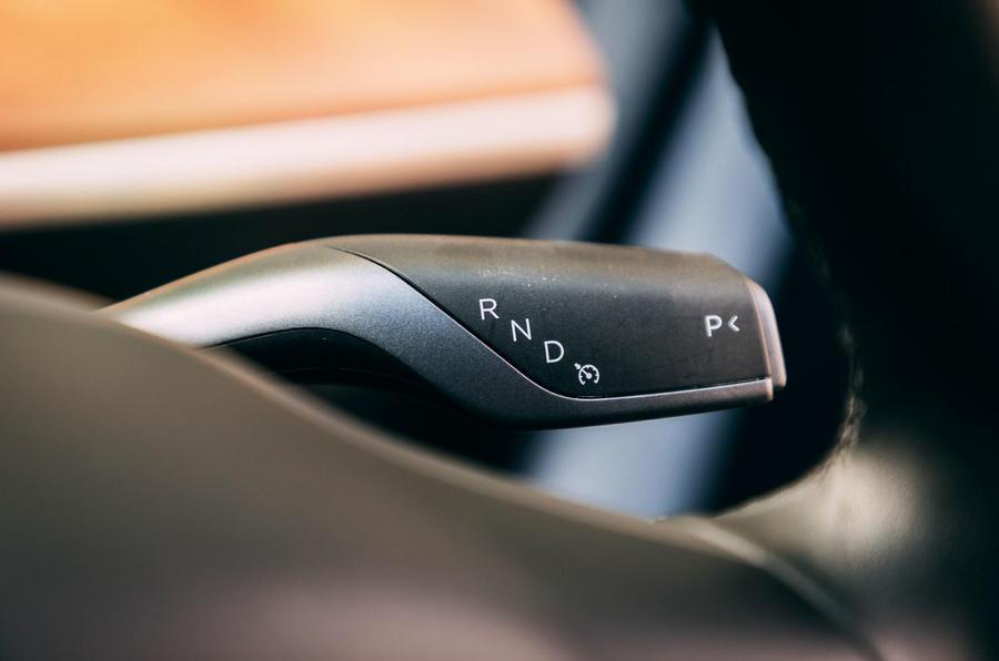 Tesla Model 3 road test - drive selector