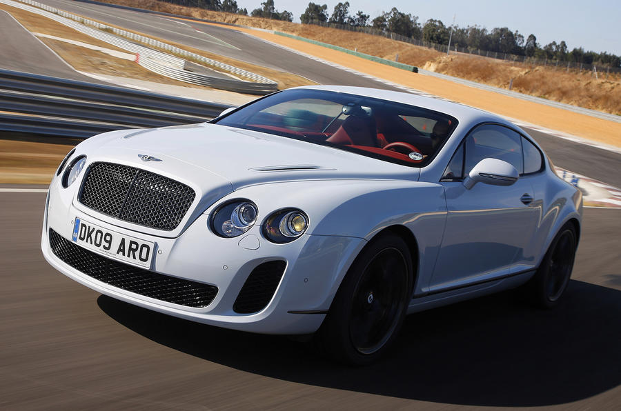 Bentley Continental Supersports on the track
