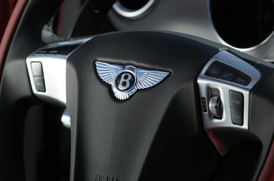 Bentley Continental Supersports steering wheel