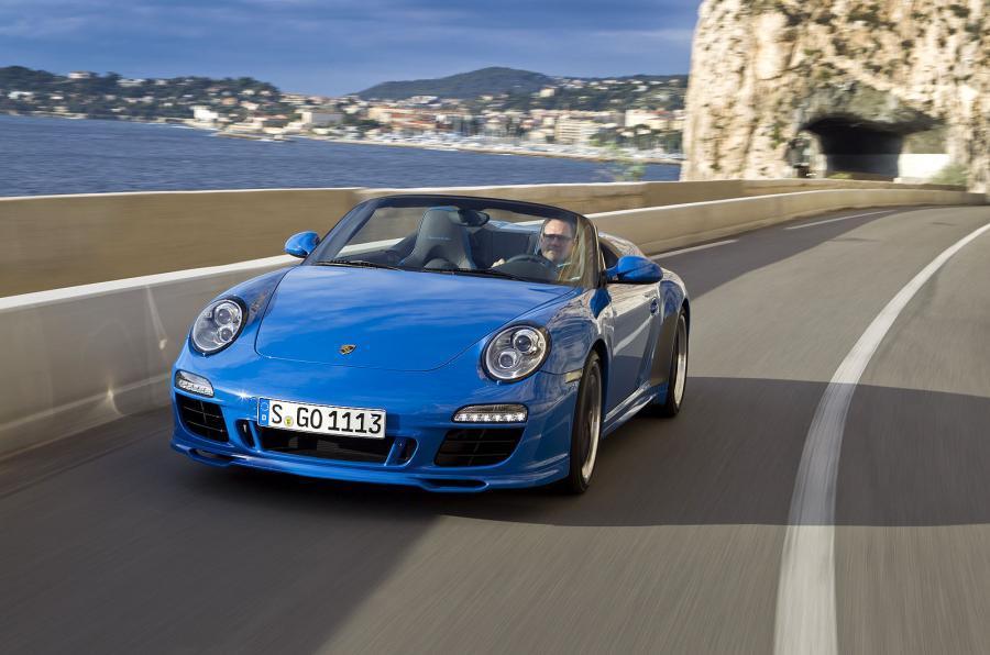 Porsche 911 Speedster cornering