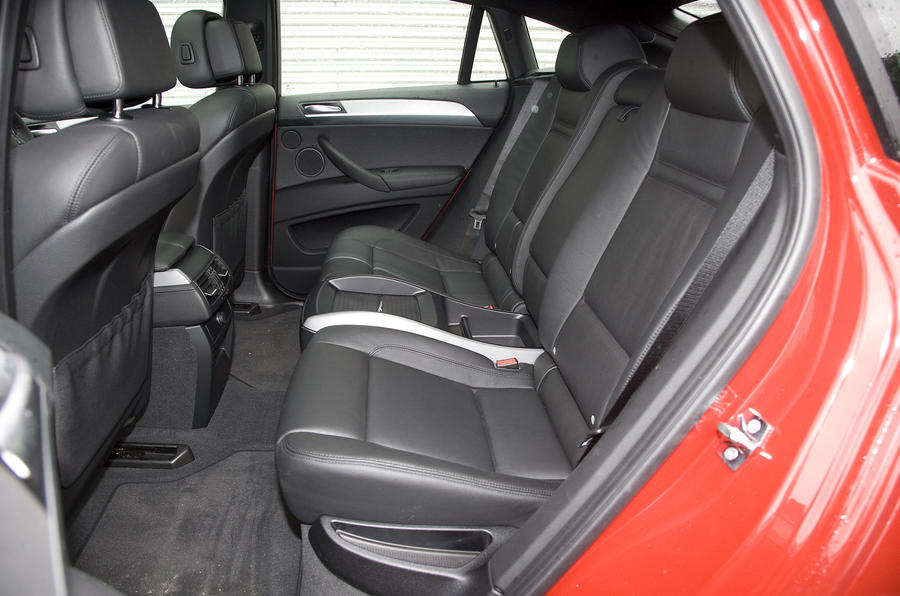 BMW X6 M rear seats