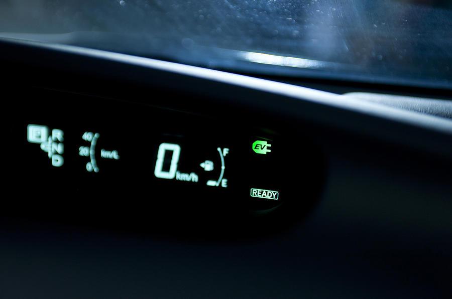 Toyota Prius plug-in instrument cluster