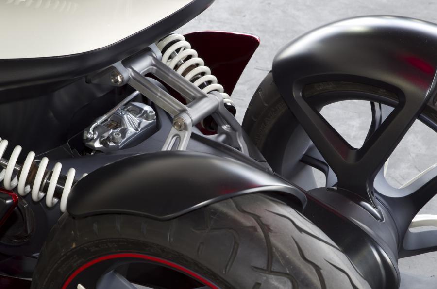 Opel Rak-e rear suspension
