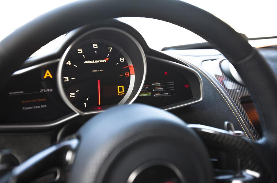 McLaren MP4-12C instrument cluster