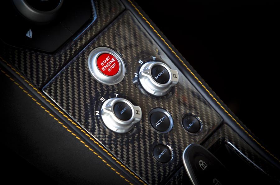 McLaren MP4-12C ignition button