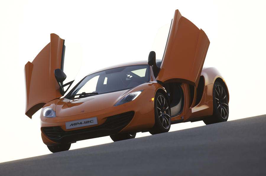 McLaren MP4-12C doors open