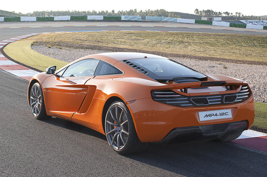 McLaren MP4-12C rear cornering