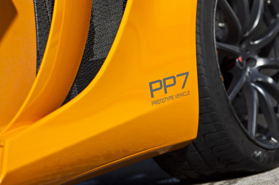 McLaren MP4-12C prototype decals