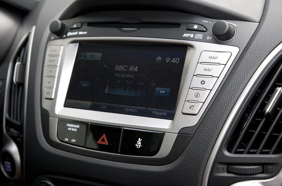 Hyundai ix35 infotainment display