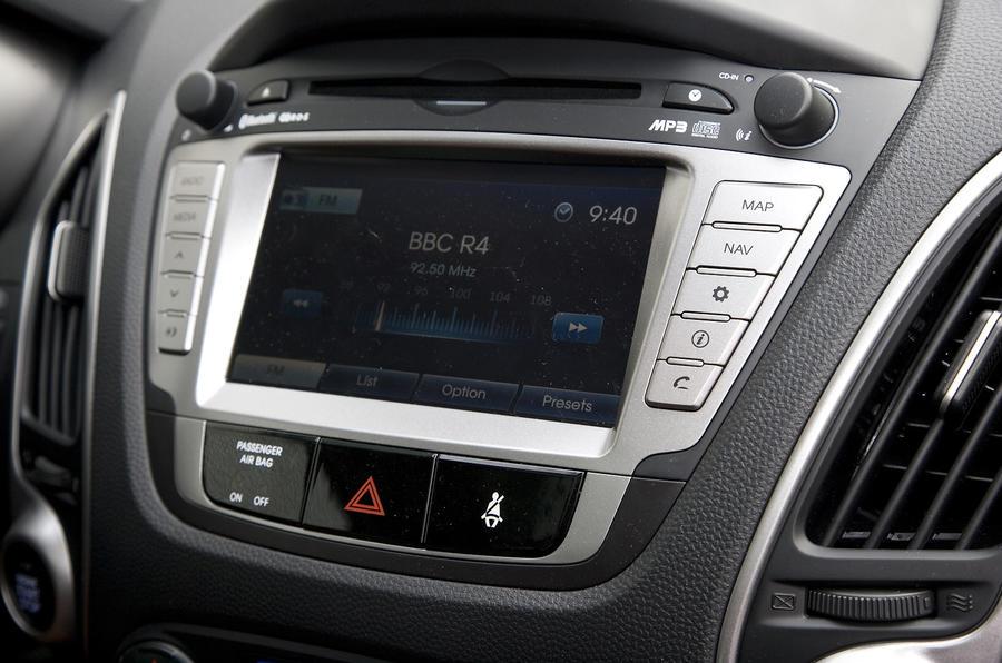 Hyundai ix35 infotainment display