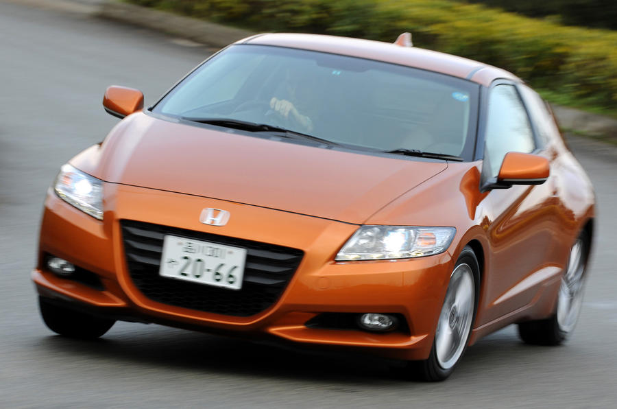Honda CR-Z hard cornering