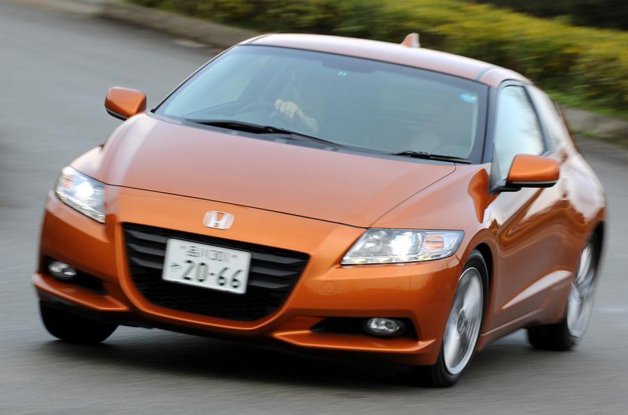 Honda CR-Z hard cornering