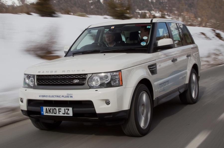 Land Rover Range_e on road