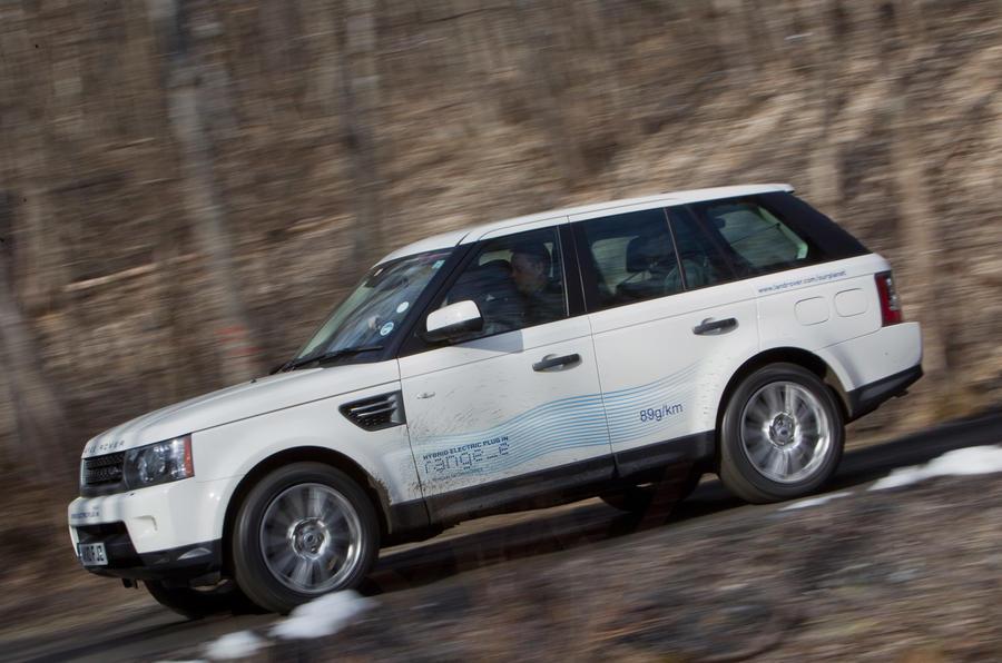 Land Rover Range_e cornering