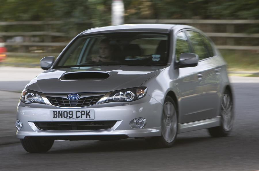 Subaru Impreza cornering