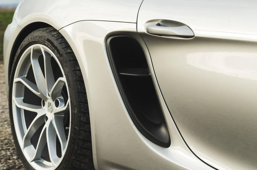 Porsche 718 Spyder 2020 road test review - rear intake