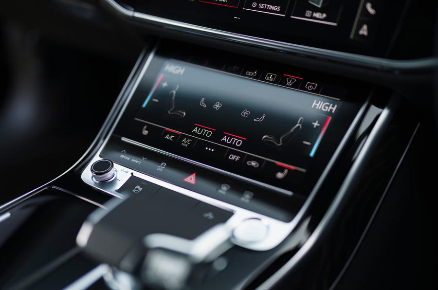 Audi A8 60 TFSIe 2020 road test review - climate controls