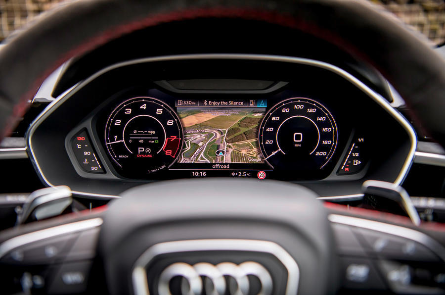Audi RS Q3 2020 road test review - instruments