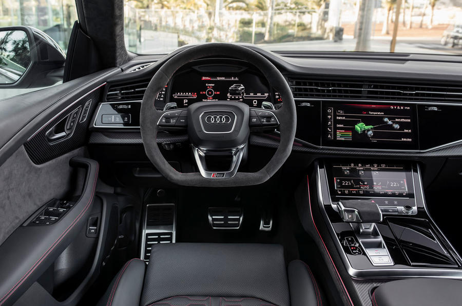 Audi RS Q8 2020 road test review - steering wheel