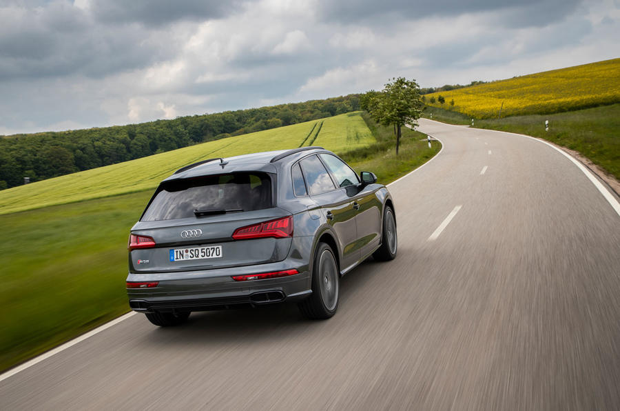 Audi SQ5 TDI 2020 road test review - on the road rear
