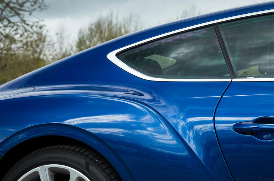 Bentley Continental GT 2018 Autocar road test review rear end