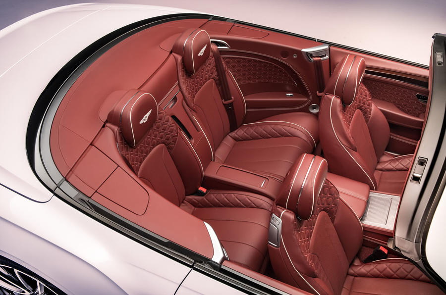 Bentley Continental GTC 2019 first drive review - rear seats
