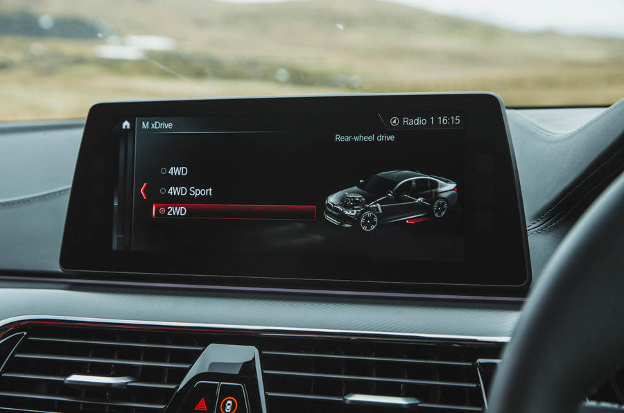 BMW M5 2018 review infotainment